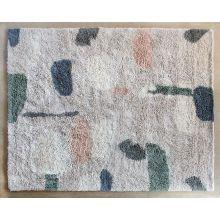 8' X 10' Abstract Cream, Peach, & Blue  Wool Rug