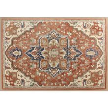 """9' 3"""" X 13' Natural Tone With Blue Accent Rug"""