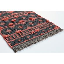 2' X 3' Spice And Charcoal Flat Weave Rug