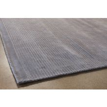 8' X 11'  Gray Loop And Cut Pile Rug