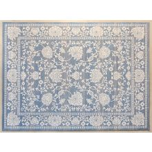 10' X 13'2  Light Blue And Beige Traditional Rug