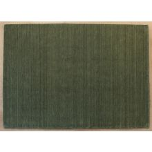 8' X 11' Olive Green Hand Tufted Rug