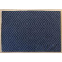 8' X 11'  Deep Blue Hand Tufted Geometric Rug