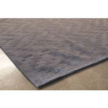 8' X 11' Slate Gray Hand Loomed Geometric Wool Rug