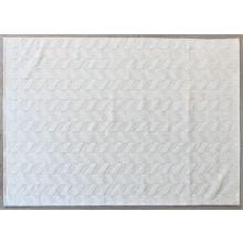 8' X 11'  Ivory Hand Loomed Geometric Wool Rug