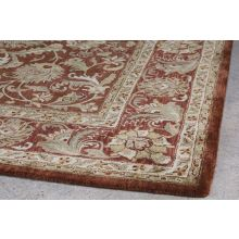 "9'3"" X 13'  Brown Persian Style Tufted Wool Rug"