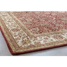 "9'3"" X 13'  Cranberry Persian Tufted Wool Rug"