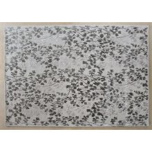 8' X 10' Silver And Grey Leaf Tufted Wool Rug