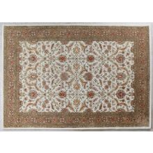 8' X 11' Ivory/Red Persian Style Tufted Wool Rug