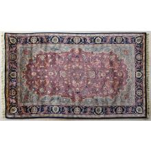 5' X 8' Plum Persian Style Tufted Wool Rug