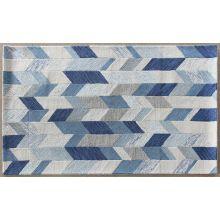 5' X 8' Arazad Rug In Blue-Ivory