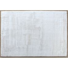 """6'-7"""" X 9'-6"""" Luxe Velour Rug In White"""