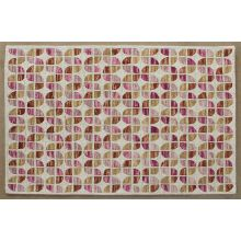 """5' X 7'6"""" Ivory And Sunset Wool Pile Rug"""