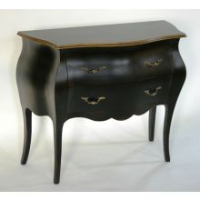 Sideboard Chest in Powder Black with Gold