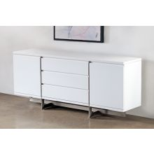 Remi Dining Buffet in Matte White