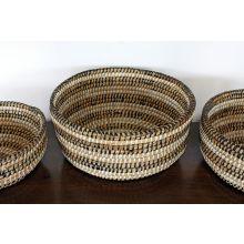 Set Of 3 Nihom Woven Straw Baskets
