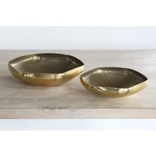 Set of 2 Valton Hammered Metal Bowls