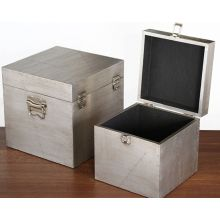 Set of 2 Jensen Aluminum Clad Boxes