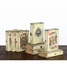 Playing Card Book Boxes - Set of 8 Assorted - Cleared Décor