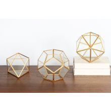 Set of 3 Nordstrom Glass Decorative Boxes