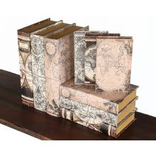Set of 9 Mason Map Book Boxes