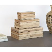 Set Of 3 Bamboo Boxes