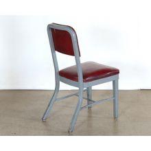 Maroon Vinyl Steelcase Side Chair