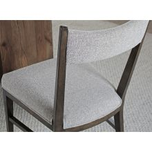 Birch Dining Chair with Natural Upholstery