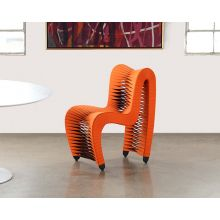 Seat Belt Dining Chair in Orange