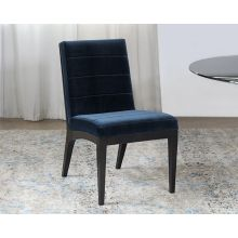 Jet Side Chair with Sapphire Upholstery