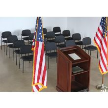 Black Stacking Press Conference Or Meeting Chair