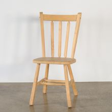 Natural Wood Side Chair