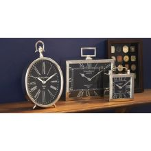 Set of Three Desk Clocks - Cleared Décor