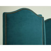 Mitchell Gold Eve 3-Panel Screen with Nailhead in Gilmore Teal
