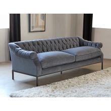 Damon Tufted Sofa in Charcoal Velvet