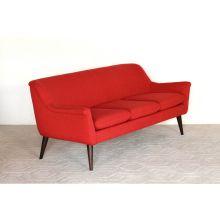 Murphy Sofa in Poppy Red