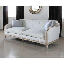 Tufted Italian Sofa in Ivory Upholstery