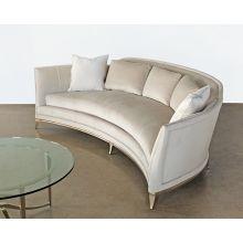 Crescent Sofa in Buff Velvet