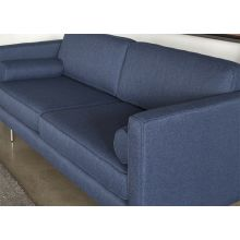 Azure Sofa with Brushed Stainless Steel Legs