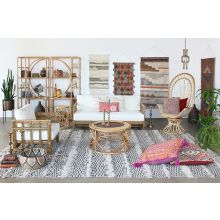 South Seas Natural Rattan Etagere