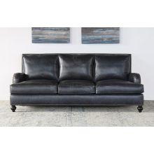Smokey Grey Leather George Smith Sofa
