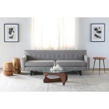 Cement Cross Hatch Subtle Multi Color Woven Sofa