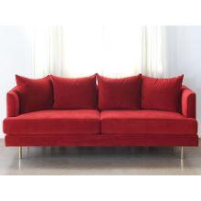 Lexy Sofa In Sangria Velvet