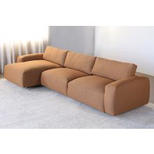 Two Piece Sectional Sofa In Terracotta Upholstery