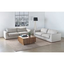 Off White Mordern Sofa With Flared Sides