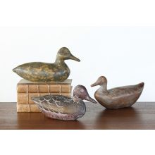 Set of 3 Rustic Duck Decoys - Cleared Décor