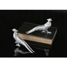 Pair of Nickel Plated Pheasants