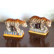 Set of 2 Tiger Figurines