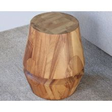 Chunky Natural Conacaste Wood Stool