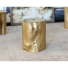 Gold Tree Stump Stool